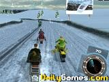 Snowmobile racing 3d